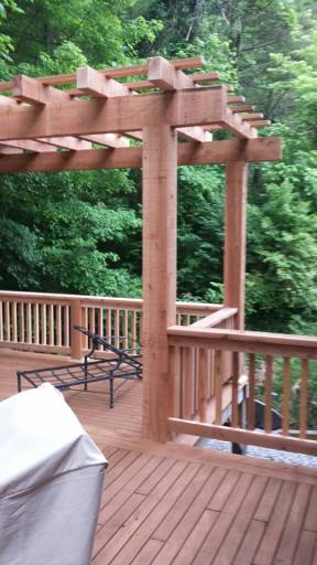 Outdoor Cedar Deck